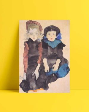 Two Little Girls Afiş