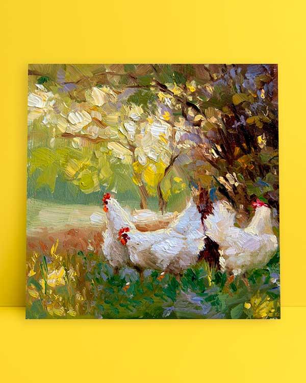Üç Tavuk afiş