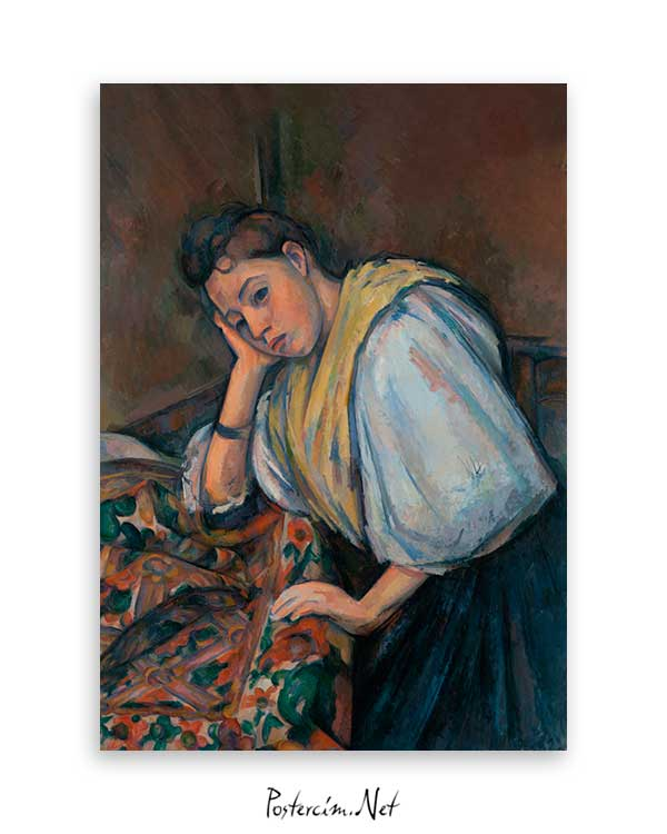 Young Italian Woman at a Table poster