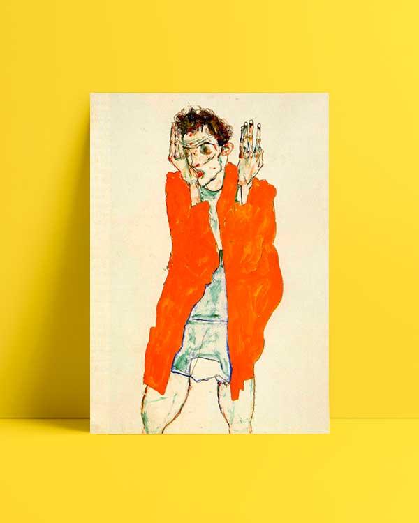 Egon Schiele Self Portrait 1915 afiş satın al