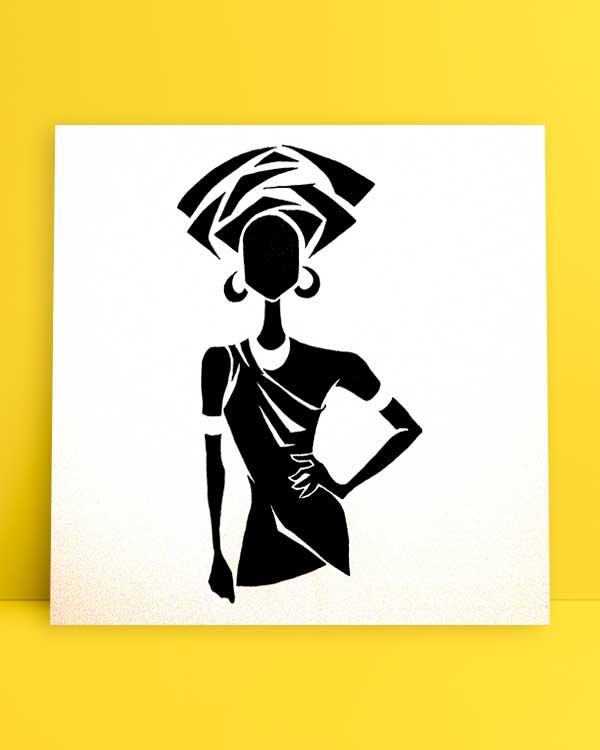 Black and White Woman afiş