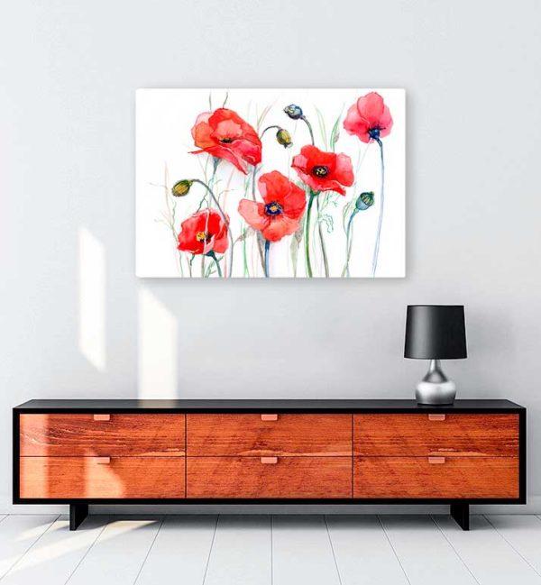 Tulips kanvas tablo