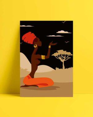 Woman and Nature afiş