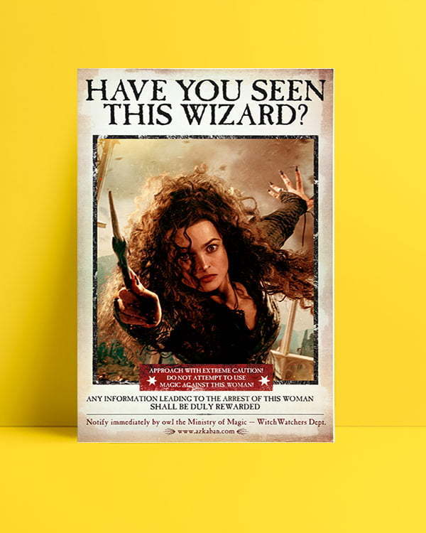 Harry Potter Wizard Bellatrix film afişi