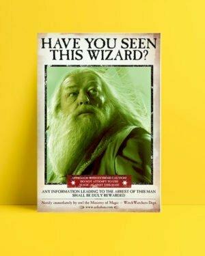 Harry Potter Wizard Dumbledor film afişi