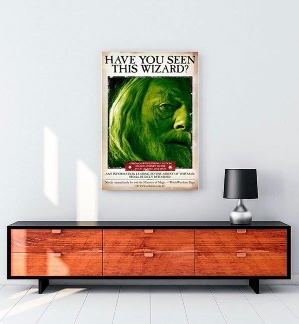 Harry Potter Wizard Dubledor film kanvas tablo