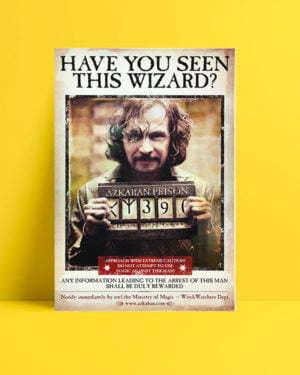Harry Potter Wizard Sirius film afişi