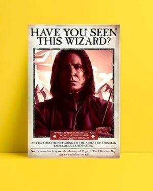 Harry Potter Wizard Snape film afişi