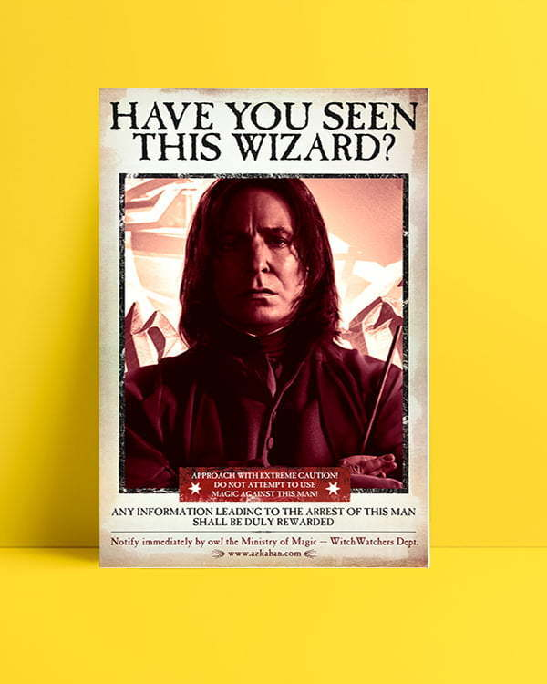 Harry Potter Wizard Snape film afişi