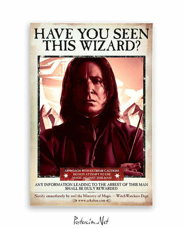Harry Potter Wizard Snape film posteri