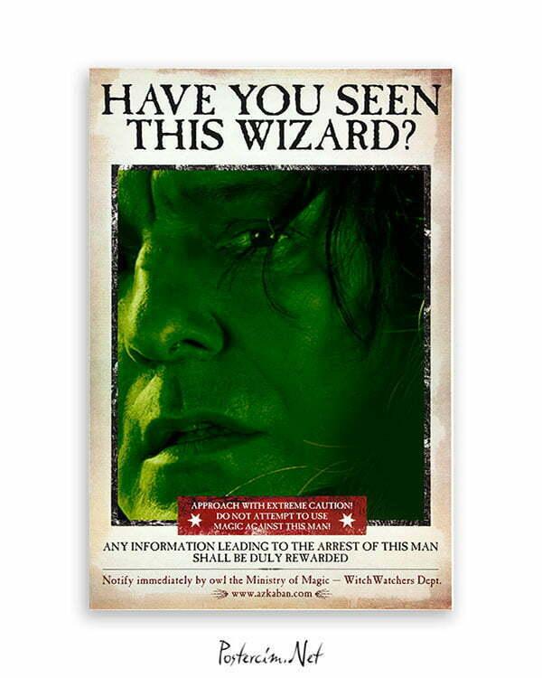 Harry Potter Wizard Snape film posteri