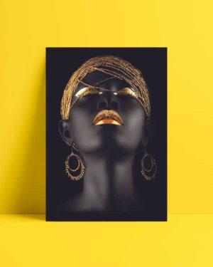 Afrikalı Kadın Afiş Satın Al