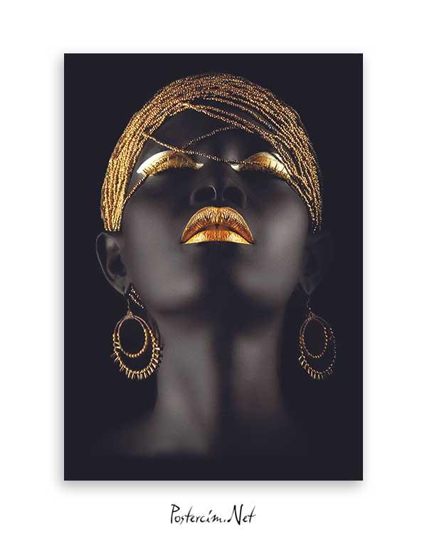 Afrikalı Kadın Poster Satın Al