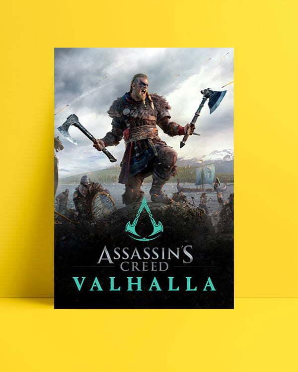 assassin's creed valhalla oyun afişi