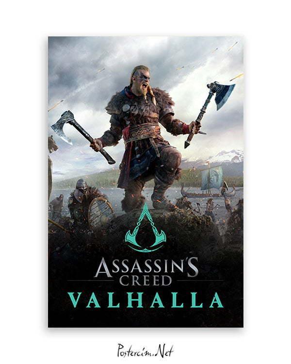 assassin's creed valhalla oyun posteri
