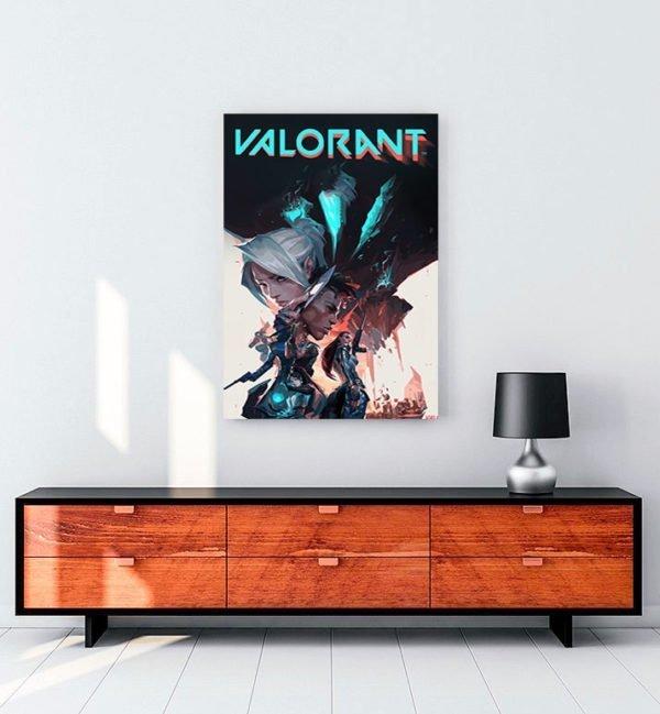 valorant oyun kanvas tablo