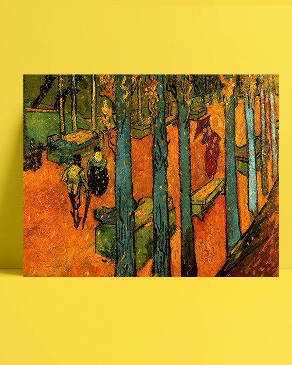 1888-Van-Gogh-Les-Alycamps-afis