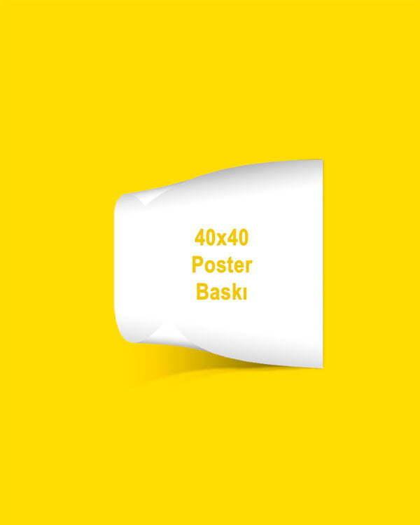 40x40 cm Özel Poster Baskı
