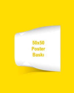 50X50 cm kuşe kağıt poster baskı