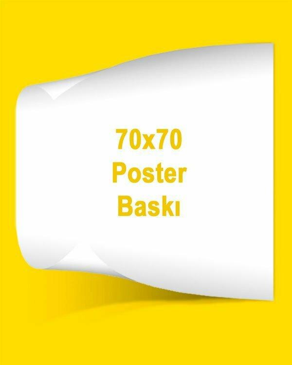 70X70 cm kuşe kağıt poster baskı