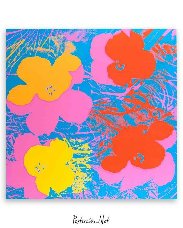 Andy Warhol Flowers poster satın al