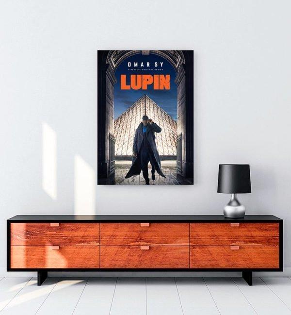 Lupin dizi kanvas tablosu