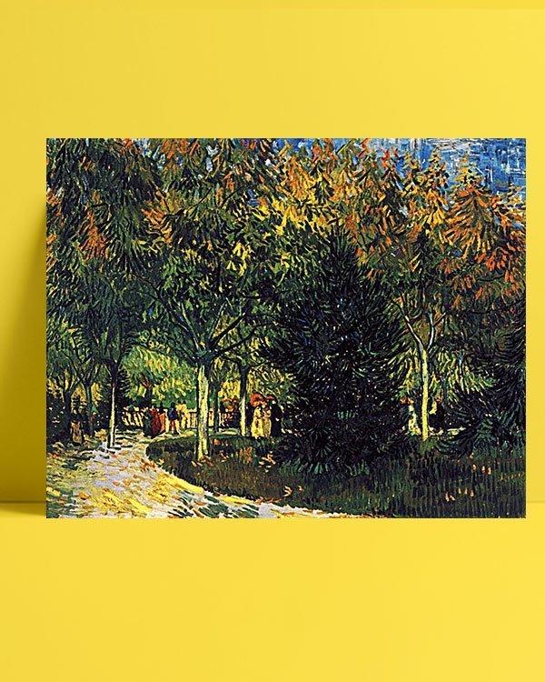 Vincent-Van-Gogh-Allée-dans-le-parc-afis