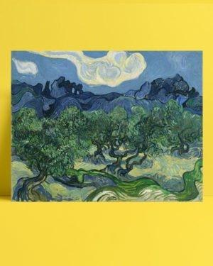 Vincent Van Gogh Alpilles Önünde Zeytin Ağaçları afis al