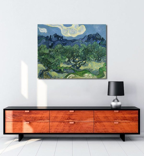 Vincent Van Gogh Alpilles Önünde Zeytin Ağaçları tablo al