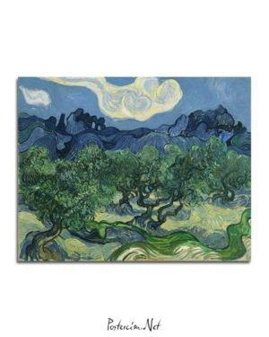 Vincent Van Gogh Alpilles Önünde Zeytin Ağaçları poster al