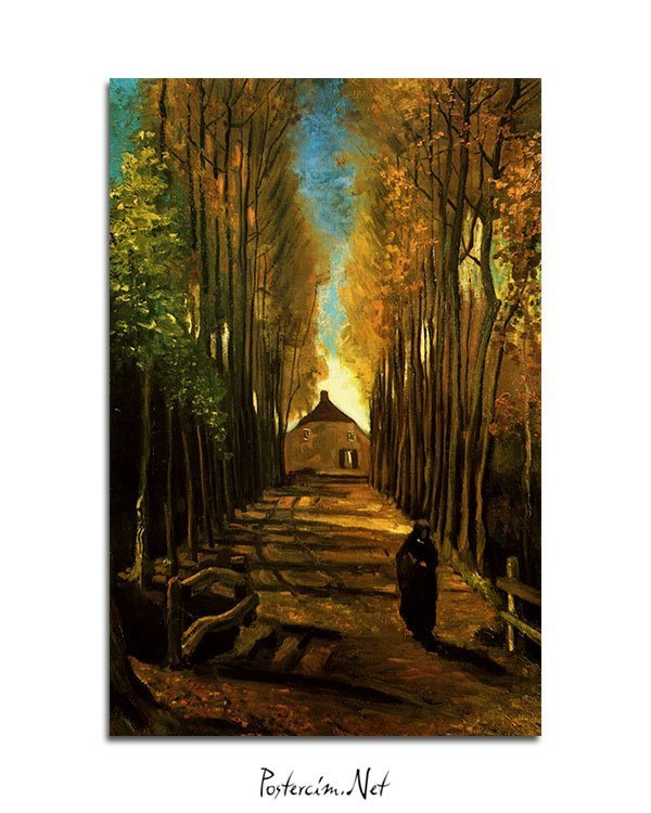 Vincent-Van-Gogh-An-alley-in-autumn-poster