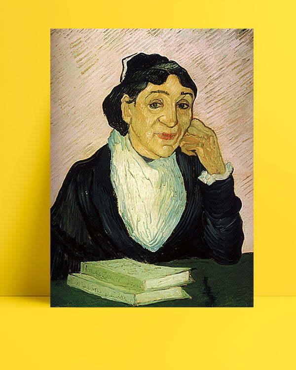 Vincent-Van-Gogh-Arlésienne,-portrait-de-Madame-Ginoux-afis