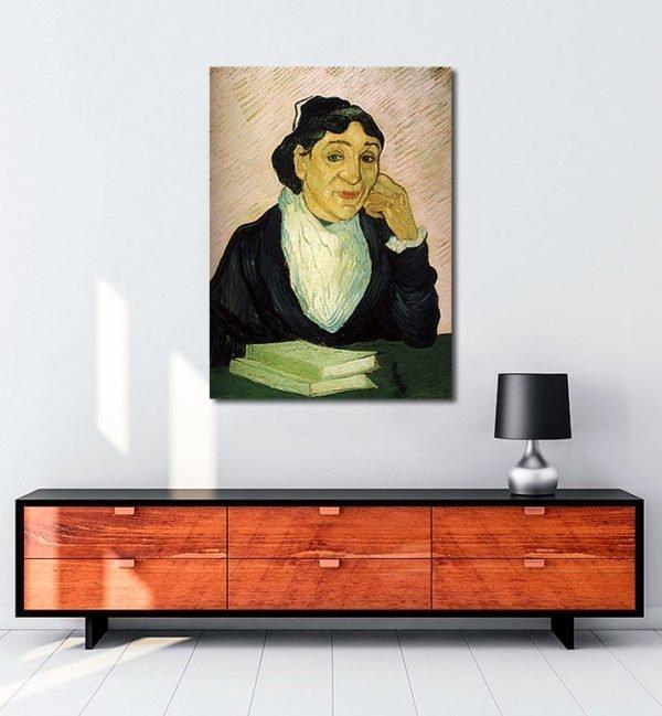 Vincent-Van-Gogh-Arlésienne-portrait-de-Madame-Ginoux-tablo