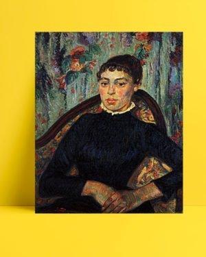 Vincent Van Gogh Armand Guillaumin Portrait d'une jeune femme afis al
