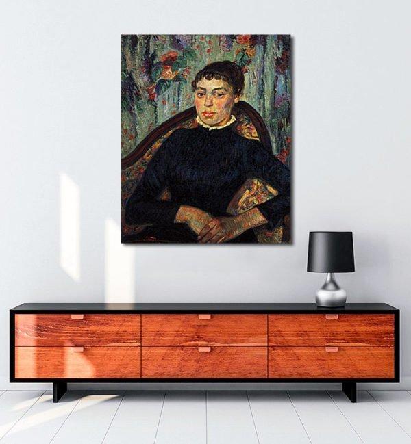 Vincent Van Gogh Armand Guillaumin Portrait d'une jeune femme tablo al