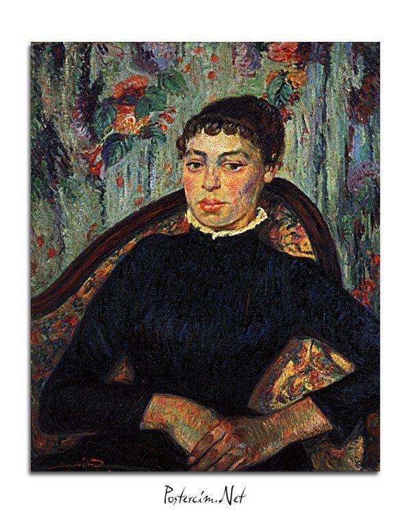 Vincent Van Gogh Armand Guillaumin Portrait d'une jeune femme poster al