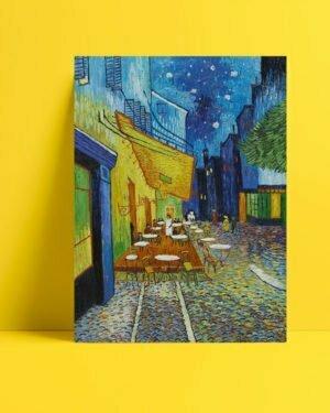 Vincent Van Gogh Arsel'de Gece Kahvesi afis al