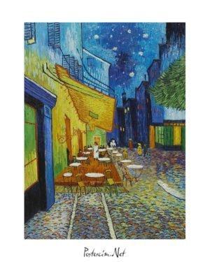 Vincent Van Gogh Arsel'de Gece Kahvesi poster al