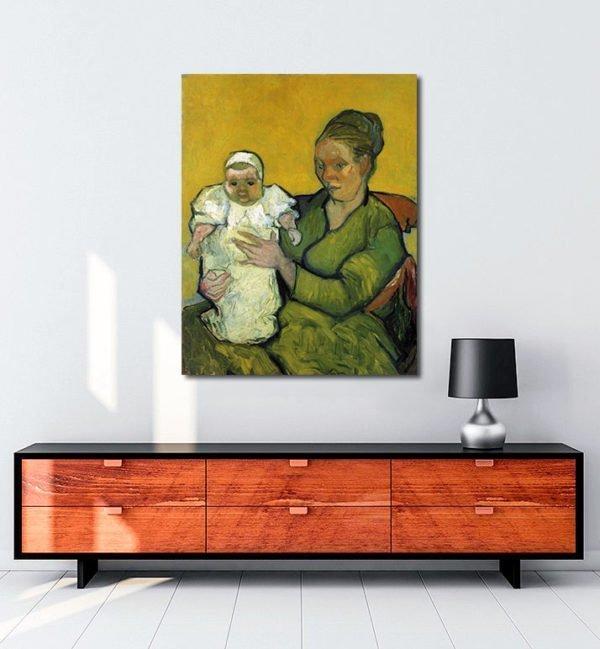 Vincent Van Gogh Augustine Roulin with her Baby tablo al