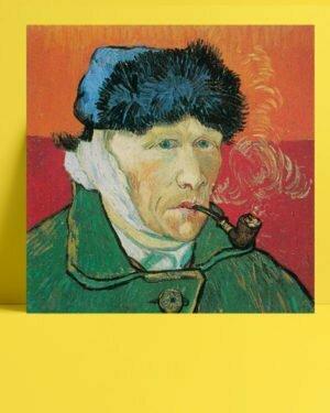 Vincent Van Gogh Autoportrait à l'oreille coupée afis al