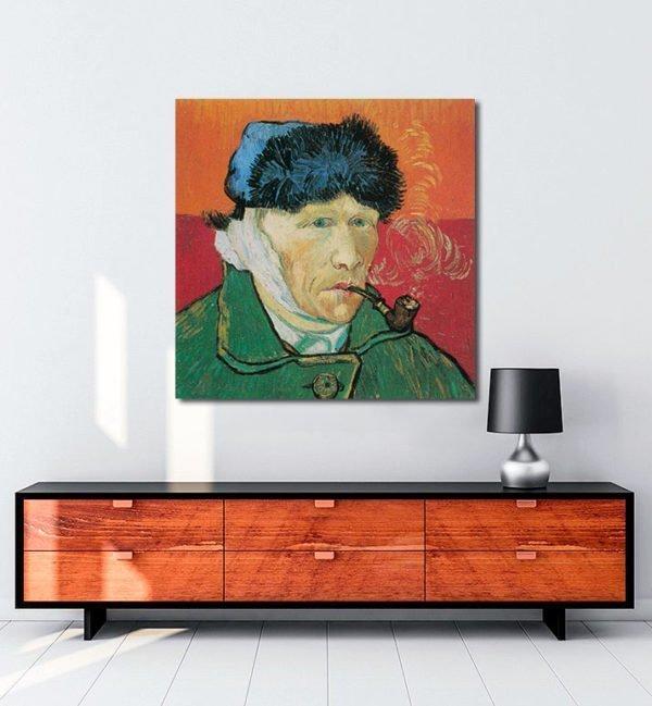 Vincent Van Gogh Autoportrait à l'oreille coupée tablo al