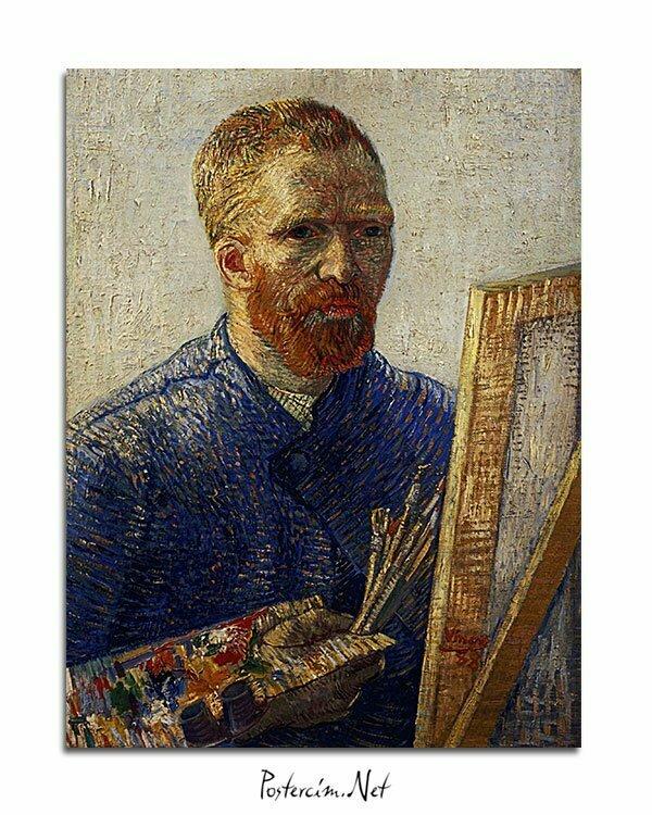 Vincent-Van-Gogh-Autoportrait-au-Chevalet-poster