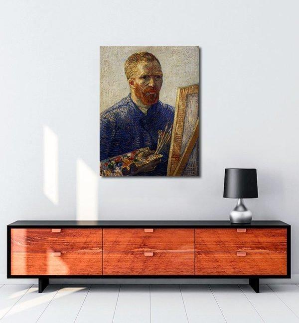 Vincent-Van-Gogh-Autoportrait-au-Chevalet-tablo