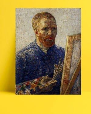 Vincent-Van-Gogh-Autoportrait-auChevalet-afis