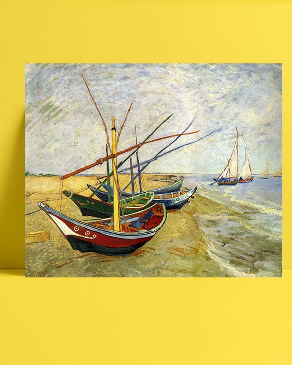 Vincent-Van-Gogh-Bateaux-aux-Saintes-Maries-afis