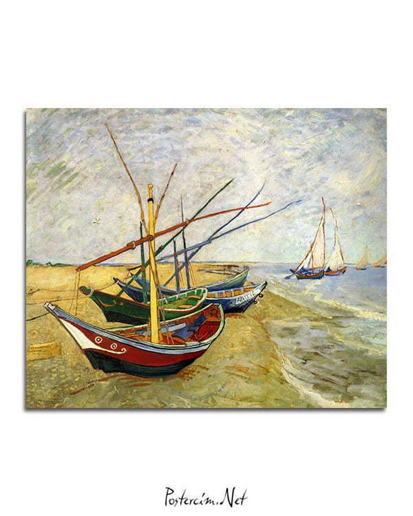 Vincent-Van-Gogh-Bateaux-aux-Saintes-Maries-poster