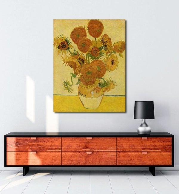 Vincent Van Gogh Bir Vazoda On Beş Çiçek tablo al