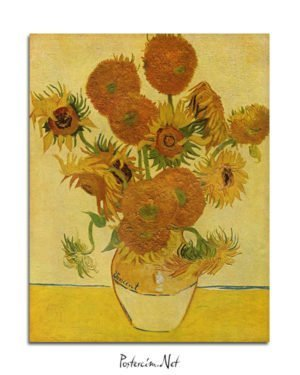 Vincent Van Gogh Bir Vazoda On Beş Çiçek poster al