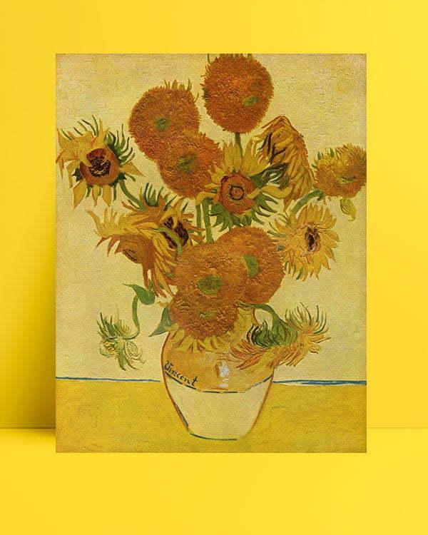 Vincent Van Gogh Bir Vazoda On Beş Çiçek afis al