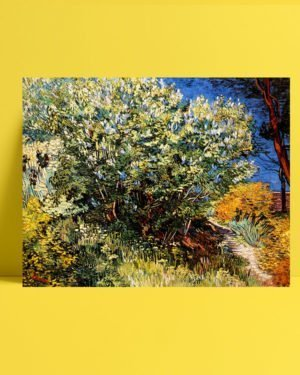Vincent-Van-Gogh-Bush-of-lilac-afis